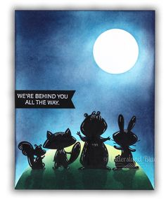 We must Celebrate Illuminated Silhouette Card by Understand Blue