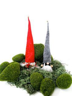 Gnome Wedding Couple Miniature Doll Swedish by studioLISE on Etsy, $38.00