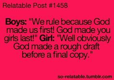 Girls are the final copy