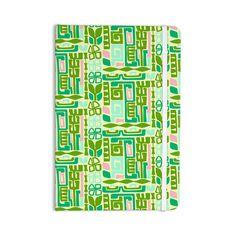 "Amy Reber ""Maze"" Green Vector Everything Notebook"