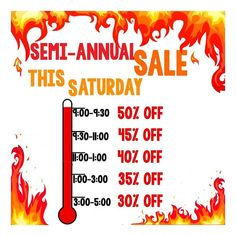 It's the sale you know and love! See you at 9AM THIS SATURDAY!#semiannualsale #gethereearly