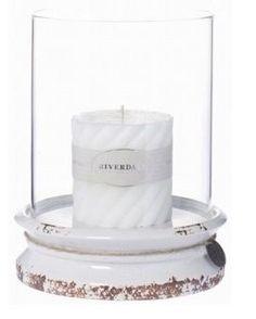 Riverdale Windlicht Authentic antiek wit 26cm. Windlicht van aardewerk met glas van het merk Riverdale uit de collectie Grand Cafe. Geleverd zonder kaars. https://www.gardentoday.nl/windlichten/riverdale-windlicht-authentic-antiek-wit-26cm/656/3397