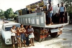 Truck full of boxes!    (King Jammy's Sound System, Kingston Jamaica Circa 1985)    Photo by Beth Lesser - http://www.bethlesser.com/