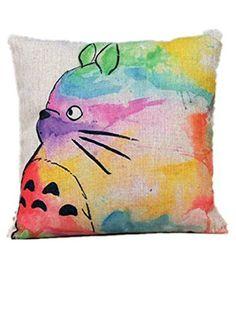 Moolecole 1pcs Anime Cartoon Mon Voisin Totoro Pattern Taie d'Oreiller Lin Coton Touche Décorative Taies Housse De Coussin Mou Pour Sofa/Voiture Pillowcase 45*45cm, http://www.amazon.fr/dp/B00Z0BOJP6/ref=cm_sw_r_pi_awdl_9Pd7vb09YSCWX
