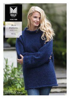 DG306-15 Blå Påfugl-genser