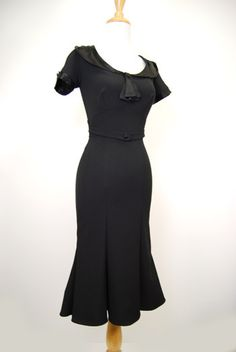 Stop Staring Mystere Black Pin Up Retro Dress-I own the Raileen...but love the black on black.