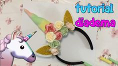 TUTORIAL   DIADEMA DE UNICORNIO FACIL! DIY - YouTube