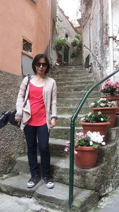 Street at Riomagiorre, Cinque Terre, Italy