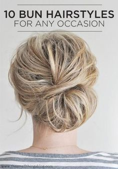 DIY Hairstyle Tutorial -top knots and sock buns