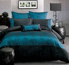 Australian owned family business specialising in quality bedding, cushions and educational toys. Shop our huge range of quilt covers, sheets and toys online today! Home Bedroom, Bedroom Decor, Aqua Rooms, Peacock Blue Bedroom, Teal Quilt, Fantasy Bedroom, Quilt Cover Sets, Dream Decor, Comforters