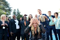 Ready for bucket 2 of 6?  Michelle Mone OBE, Ultimo founder, accepts the ALS Ice Bucket Challenge in front of 500 people at Mega Marketing SA #megamarketing