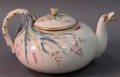 Irish Belleek teapot with dragon spout