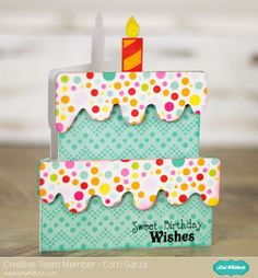 cake use birthday cake, just because, simply charmed, or wild card 2 cartridge candle in wild card 2