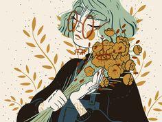 Mustard Florals Illustration - Mustard Florals Illustration by Tamara Alexander. - Mustard Florals Illustration – Mustard Florals Illustration by Tamara Alexander – - Art And Illustration, Character Illustration, Animal Illustrations, Pretty Art, Cute Art, Bel Art, Doodle Drawing, Art Mignon, Art Graphique