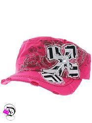 644dd05a3fd Fuchsia Chevron Cross Cadet Hat  14.99 Divalicious