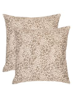 Animal Prints Pillows (Set of 2) by Safavieh Pillows at Gilt