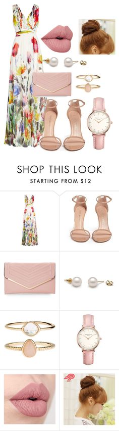 """Easter Party"" by lavenderantelope ❤ liked on Polyvore featuring Badgley Mischka, Stuart Weitzman, Sasha, Accessorize, Topshop and Pin Show"