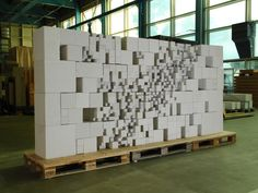 The Resolution Wall - Gramazio & Kohler, digital fabrication with concrete blocks