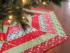 7 Quilted Christmas Stocking and Tree Skirt Patterns