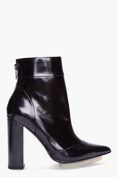Whoa. 3.1 Phillip Lim Black Patent Peggy Angle Boots