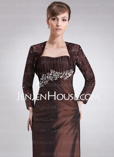 Wraps - $48.99 - Long Sleeve Lace Special Occasion Wrap (013012480) http://jenjenhouse.com/Long-Sleeve-Lace-Special-Occasion-Wrap-013012480-g12480