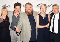 Brian Blessed shares a joke with Jan, Tim, Lion Ark Editor Tony Pattinson and Ronda Green