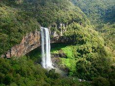 Cachoeira do Caracol no Parque do Caracol-Rio Grande do Sul-Brasil-***-