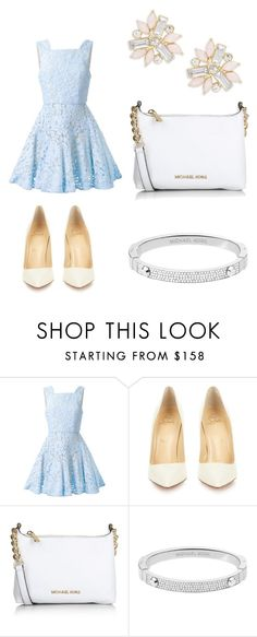 """""""shattered glass"""" by balloonbear ❤ liked on Polyvore featuring Alex Perry, Christian Louboutin, Michael Kors, Cara, women's clothing, women, female, woman, misses and juniors"""