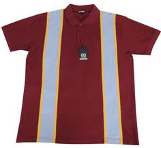 60s Style Pique Polo Shirt Burgundy Mod Northern Soul High quality Cotton