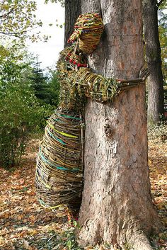 TreeHugger installation for International Tree Day, Poland