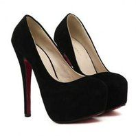 Party Women's Pumps With Suede and Round Toe Design (BLACK,39) | Sammydress.com Mobile