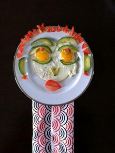 Hello Señor Breakfast.    #foodface #charsbreakfast #blueshineart
