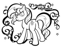 The little girl that lives downstairs asked me to draw her favorite My Little Pony for her to color, so of course I said yes. MLP Sunset Shimmer coloring page for Abigail Super Mario Coloring Pages, Coloring Pages For Girls, Cute Coloring Pages, Colouring Pics, Coloring For Kids, Coloring Sheets, Coloring Books, Little Pet Shop, Little Pets