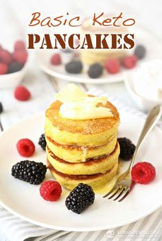 These are more like mini Souffle's. They don't list calories but I am sure they are very high and total carb content is high so only eat if you have extra calories that day. Best Keto Pancakes, Low Carb Pancakes, Low Carb Bread, Low Carb Keto, Keto Foods, Ketogenic Recipes, Low Carb Desserts, Low Carb Recipes, Dessert Recipes