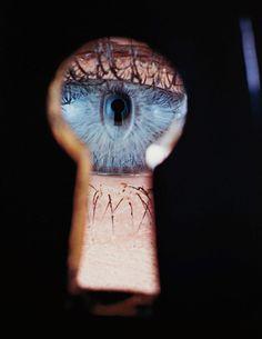Irving Penn ~ Eye in Keyhole, New York 1953