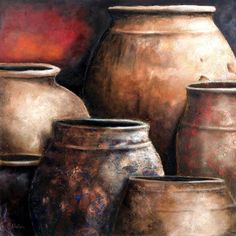 cuadros al oleo de vasijas | Cuadros Acuarela Pinturas Acrílico Pinturas Óleo Cuadros Vitrales