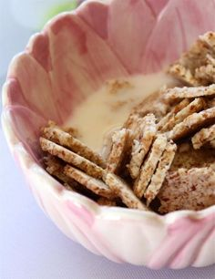Homemade cereal made from almond pulp (the left-overs after making homemade almond milk).