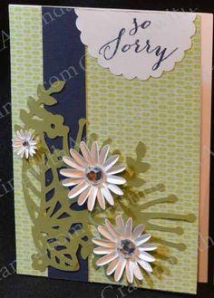CTMH Cricut Artistry & Chantilly paper Sympathy Card www.craftingwithamanda.ctmh.com