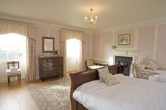Berry House, The Buck Bedroom, georgian inspired decor, large party house in Devon