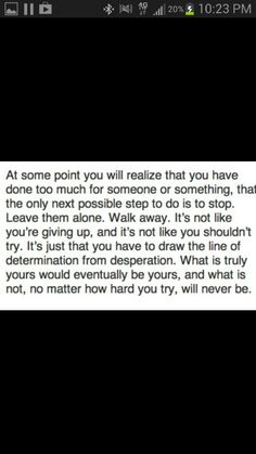 Walk away..... such great words!!!!
