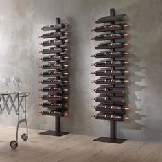 standing wine rack - Not everyone has enough space in their home for a wine cellar or storage space, so the Siderio 'Dioniso Basic!' standing wine rack is i. Wine Rack Wall, Wine Wall, Wine Stand, Home Wine Cellars, Wine Cellar Design, Rustic Wine Racks, Wine Display, Bottle Rack, Bottle Opener