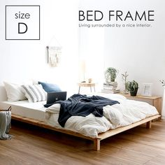 Cozy Apartment Decor, Rooms Home Decor, Room Decor, Wooden Platform Bed, Tatami Bed, Diy Bed Frame, Minimalist Bedroom, Room Colors, Interior Design
