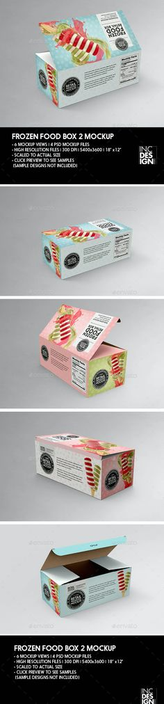 Big Frozen Food Box Packaging Mockup by incybautista | GraphicRiver