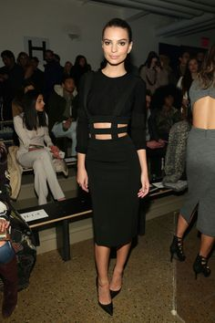 Emily Ratajkowski in Cushnie Et Ochs at the Cushnie Et Ochs Show during Fashion Week Fall 2015 in New York. See all of the model's best looks.