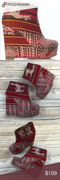 Fortress of Inca hand Woven textile lulu dahlia New. Made in Peru. Hand woven textile. $180 fortress of Inca Shoes Ankle Boots & Booties