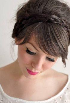 headband-braid-updo-homecoming-hairstyles-for-medium-hair.jpg (935×1374)