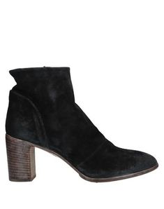Split leather No appliqués Solid color Zip Round toeline Square heel Leather lining Leather/rubber sole Contains non-textile parts of animal origin Large sized Moma Shoes, Black Ankle Boots, World Of Fashion, Luxury Branding, Soft Leather, Shoe Boots, Booty, Zip, Heels