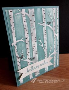 Stamp & Scrap with Frenchie: Woodland Embossing Folder direct ink Perfect for everyday occasion