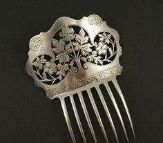 1850 Silver hair comb