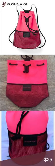 VS drawstring neoprene beach tote 😍 This is like a new bag ✅used one time ✅but never to go to the beach ✅ good conditions ✅ Victoria's Secret Bags Totes